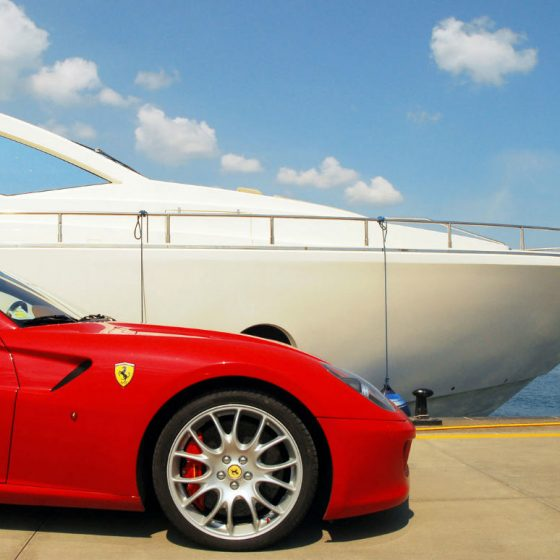 10 years challenge Ferrari and Aicon Yachts in Sicily