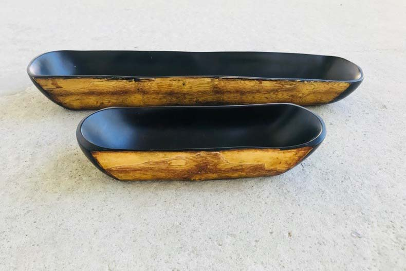 Ethical Fashion Initiative Wood Carving Obeche wood bowls Paula-Coles