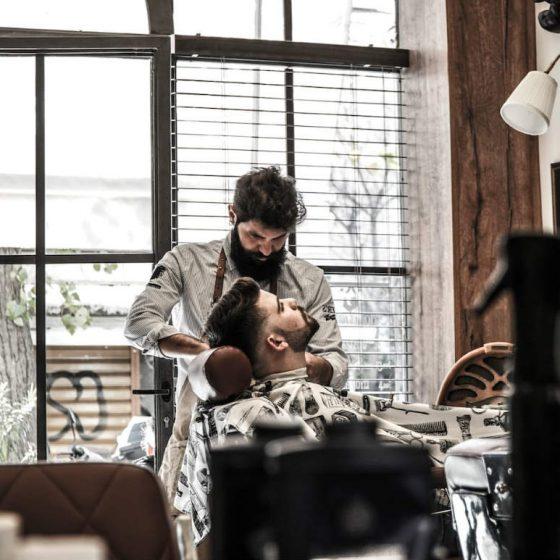 barber shop in Athens modern gentlemens club