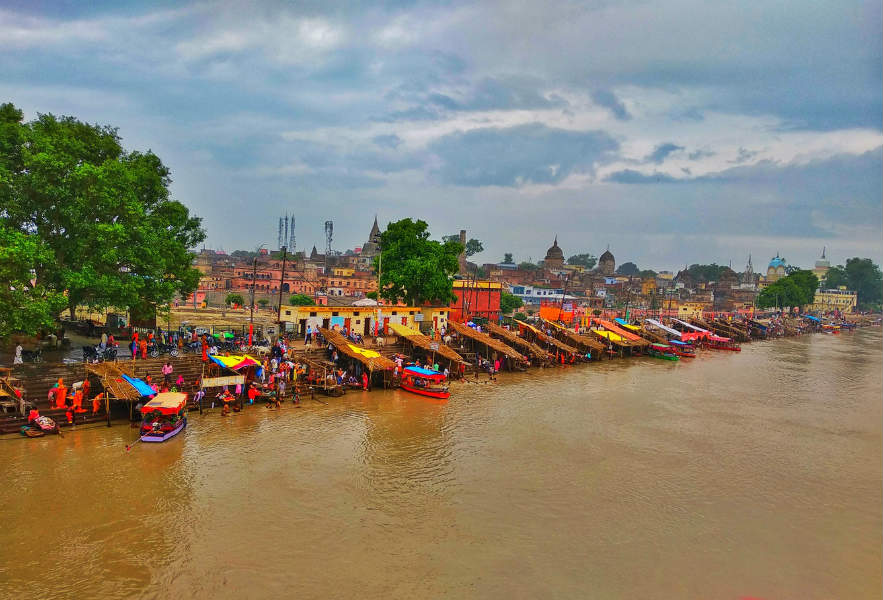 Saryu River in India Landmark resolutions on rivers pollution
